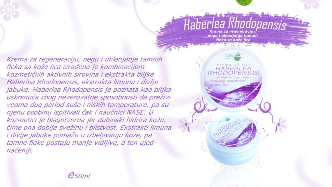 Krema za lice Haberlea Rhodopensis